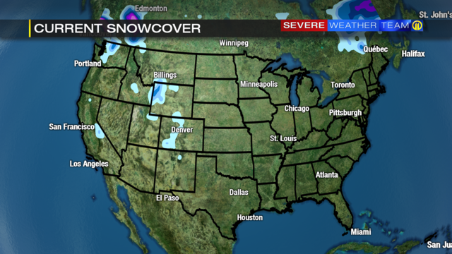 US Snow Cover Lowest In More Than Years WPXI - Map of us snow cover