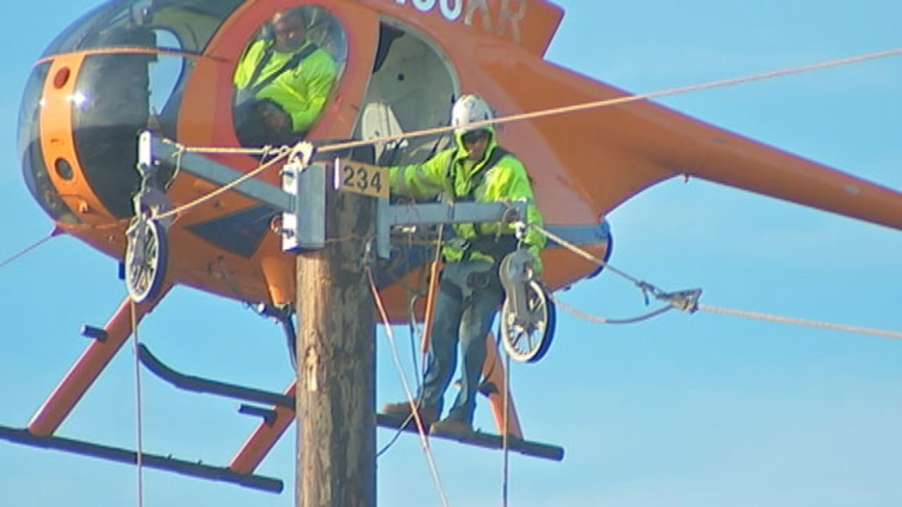 FirstEnergy uses helicopter to build power line over Pennsylvania ...