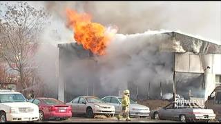 RAW: Fire at service garage in Pittsburgh