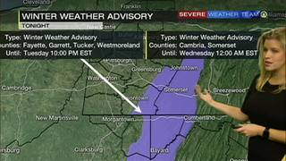 Winter Weather Advisory includes Fayette, Westmoreland counties