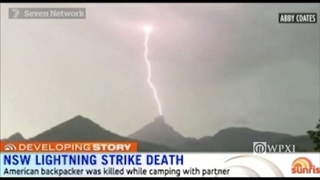 American hiker killed by lightning in Australia