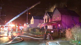 RAW: Firefighters battle flames at 2 McKeesport homes