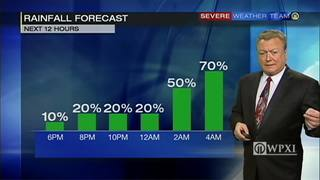 Chance of rain increases overnight