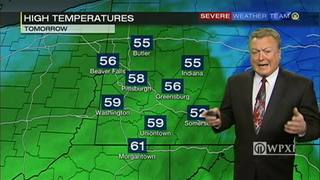 Highs near 60 tomorrow
