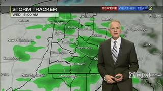 Chance of rain higher tomorrow morning and lower in the afternoon