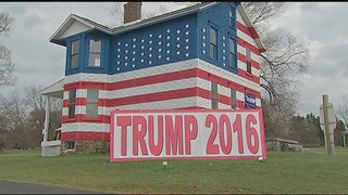 Making a statement: 'Trump House