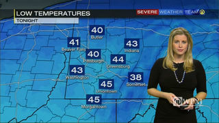 Tuesday afternoon temperatures and overnight lows (1/17/17)