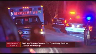 Police chase ends in crash in Collier Township