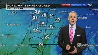 Temperatures to go back up for Friday