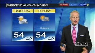 Weather looks good for Saturday but expect rain Sunday
