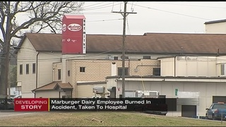 Dairy worker flown to hospital with severe burns