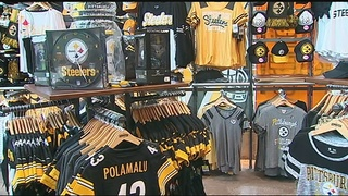 Steelers fans stocking up on merchandise