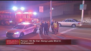 Pedestrian struck by car in McKeesport