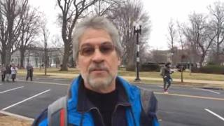 Protester speaks with Channel 11 in Washington on Inauguration Day
