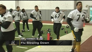 Steelers players hit with flu bug back at practice Friday