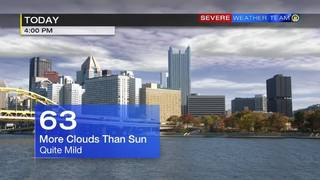 Saturday will be cloudy, mild (1/21/17)