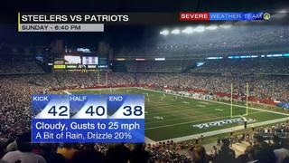 Forecast for Steelers-Patriots game (1/22/17)