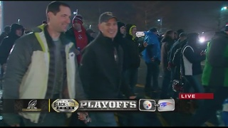 Steelers, Patriots fans clash ahead of game