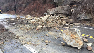 Rock slide closes Allegheny River Boulevard