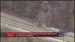 Landslide closes road in Moon Twp. hours after slide in Penn Hills