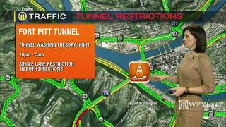 TRAFFIC: Fort Pitt Tunnel restrictions (1/24/17)