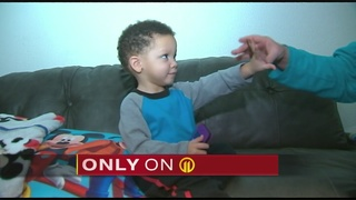Toddler injured when someone throws object at car, shatters windshield
