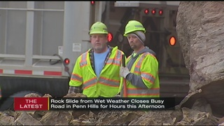 What causes rock slides? Wet weather plays big factor