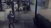 Surveillance image of missing person Dakota James walking through Katz Plaza in the Downtown Cultural District at approximately 11:46 p.m. on Jan. 25. (Pittsburgh Bureau of Police)