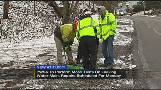 PWSA scheduled to test leaking line Sunday to prep for repairs