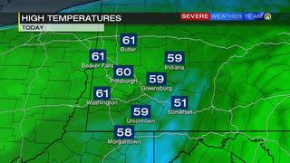 High temperature forecasts for Sunday (2/19/17)