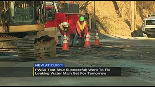 PWSA tests leaking water main; repairs slated for Monday