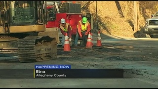 PWSA tests leaking water main to prep for repairs