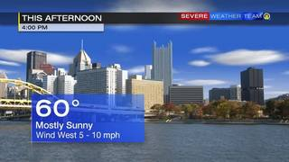 Temperatures to top off around 60 degrees Sunday (2/19/17)