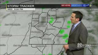 Scattered showers move in Tuesday night (2/21/17)