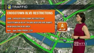 TRAFFIC: Crosstown Boulevard restrictions (2/21/17)