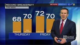 Record-breaking highs possible Thursday and Friday (2/22/17)