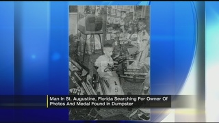 Florida man searching for owner of photos and medal found in dumpster