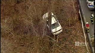 RAW: Car crashes into woods in Ross Township