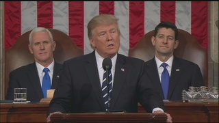 President Donald Trump addresses joint session of Congress