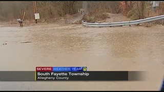 Flooding closes road in South Fayette Township
