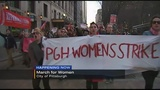 Dozens gather in Pittsburgh for march, businesses close in observance of 'Day Without a Woman'