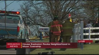 House in Moon Township leveled by explosion