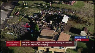 Moon township home leveled by explosion