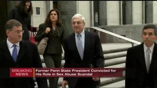 Ex-Penn St president guilty of 1 count of child endangerment
