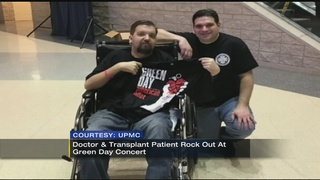 Firefighter recovering from 2nd heart transplant goes to concert with surgeon