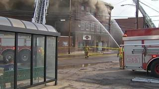 RAW: Crews battle fire at apartments over Butler County diner