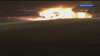 Good Samaritans pull woman, children from burning vehicle