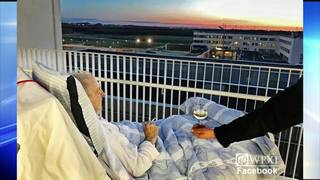 Dying patient gets last wish for cigarette, glass of wine