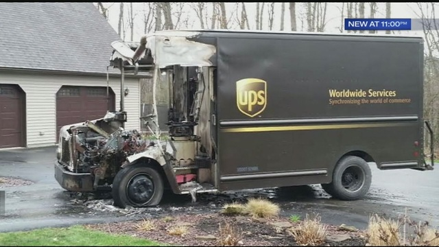 Addison Auto Group >> UPS truck catches fire in driveway of Pennsylvania home | WFTV