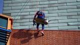 Photos: Superheroes wash windows at… - (3/21)